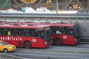 Busses in Bogota. is bogota safe for tourists.