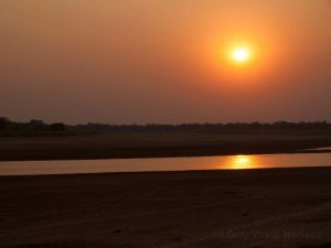 Luangwa River by sunset