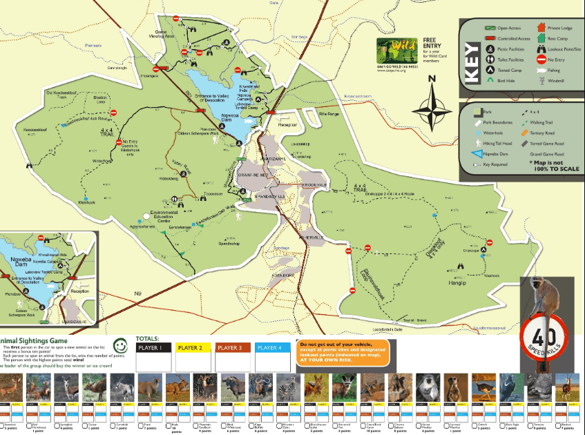 Camdeboo National Park Map - Valley of desolation