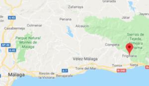 malaga airport to frigiliana. malaga to frigiliana. frigiliana spain map.