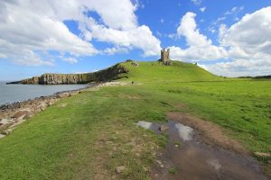 Dustanburgh Castle. Cultural gems during your UK self-drive tours.